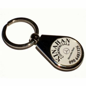 Keyring Blank Pear 25mm and printed dome